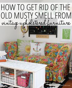 How to Get Rid of (Remove) the Old Musty Smell From Vintage Upholstered Furniture  www.findinghomeonline.com