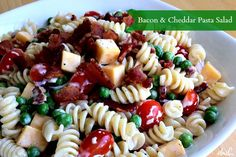 Dishing With Leslie: Bacon & Cheddar Pasta Salad