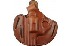 Bianchi Model 77 Piranha Holster for Ruger LCR .38 Special, Tan, Left Hand 24957