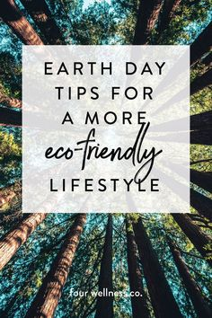 Earth Day tips for a more eco-friendly lifestyle // Simple tips for environmentally-conscious & healthy living // Wellness tips for healthy living at fourwellness.co/blog #ecofriendly #earthday #healthyliving #nontoxic #natural