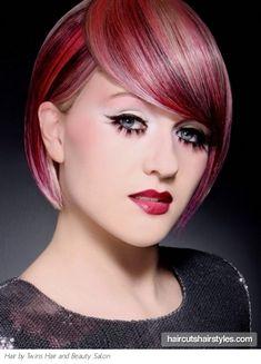 Voguish Magenta Hair Highlights http://www.haircutshairstyles.com/voguish_magenta_hair_highlights-1085.shtml