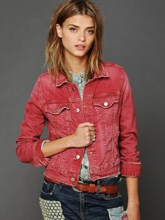 could I dye a jean jacket a fun color the same way that you would bleach and then dye shorts...