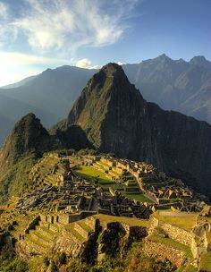 Sunset across Machu Picchu, Peru