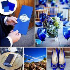 Color Palette: Cobalt Blue Wedding