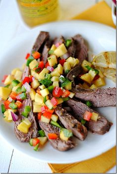 Southwest Flank Steak with Peach Salsa  made this tonight and everybody RAVED!!!