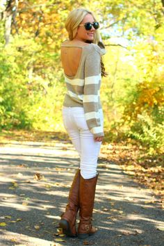 Hazel Cream Sweater. (this website has such cute clothing)