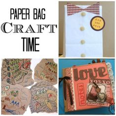 have a ton of paper bags lying around? no problem! Paper Bag Craft Time