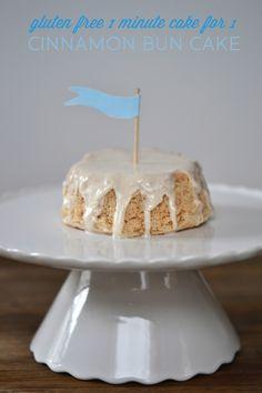 Microwave Cake for 1: Gluten Free Cinnamon Bun Cake #gluten_free #gluten #free #cake #cinnamon #bun #roll