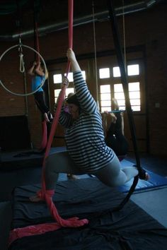 Aerial Yoga it's for everyone! Take a look...