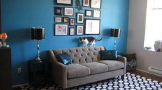 Granite Chloe sofa, blue walls