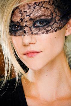 chanel, runway, backstag, mask, beauti