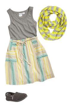 Roxy Knit Dress & Erge Designs Infinity Scarf (Big Girls)   Nordstrom