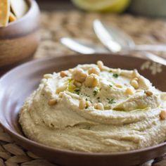 Simple Homemade Hummus HealthyAperture.com