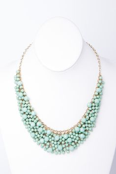 faceted bead bib necklace / a-thread