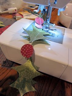 stitched paper garlands