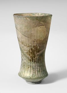 Glass bell beaker.  6th - 7th Century AD. Frankish.