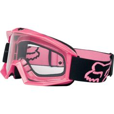 pink fox racing goggles.