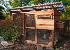 Dan used The Garden Coop chicken coop plans to build this coop, featured in the 2012 Austin chicken coop tour.