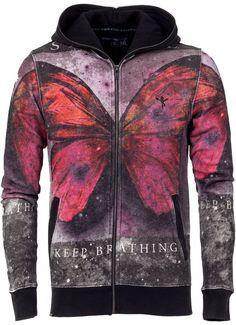 KEEP BREATHING HOODIE | Sin Star Clothing #sinstar #hoodie #butterfly