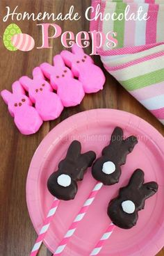 Homemade Chocolate Peeps from Raining Hot Coupons