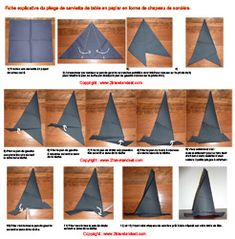 pliage serviette on pinterest folding napkins napkins and origami. Black Bedroom Furniture Sets. Home Design Ideas