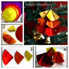 DIY: Paper Christmas Tree Ornaments