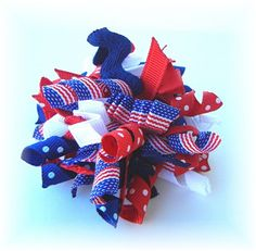 DIY - Gymboree hair bows... i am so making this for the 4th