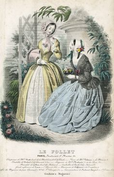 June fashions, 1846 France/US, Le Follet/Graham's Magazine