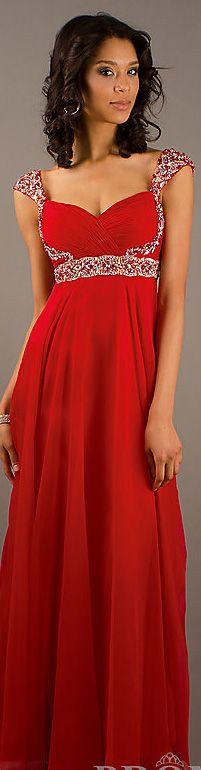 Fashion long dress #red