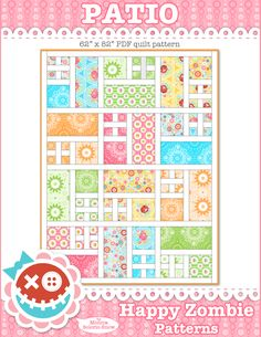 PATIO quilt PDF pattern by Happy Zombie