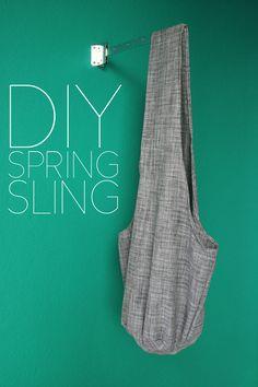 DIY Sling Bag, super easy and functional