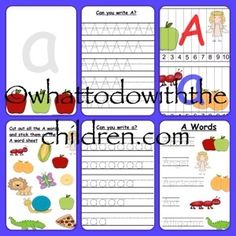 Learning the letter A, with FREE printable Pack.