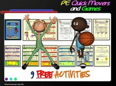 "PE QUICK MOVERS AND GAMES! - ""9 FREE ACTIVITIES"" - TeachersPayTeachers.com"