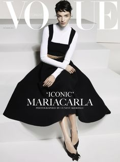 #Vogue Turkey - October - #Mariacarla Boscono - #CuneytAkeroglu - 2013 http://www.lisaeldridge.com/gallery/ #LisaEldridge #Makeup #Beauty
