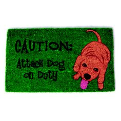 Attack Dog 18x30 doormat now featured on Fab.