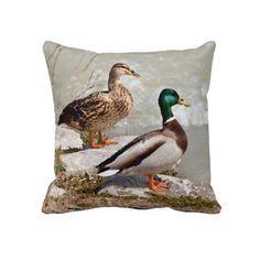 Cute Duck Couple Pillow