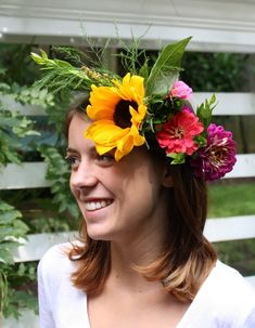 DIY Floral Crowns - Wild About Color