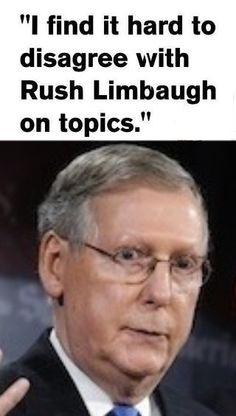Mitch McConnell following a pinhead called Rush.....truly dumb dumb dumb