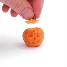 Get your little garden on. Miniature Garden Halloween Pumpkin with Lid | #miniaturegarden