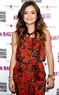 Lucy Hale looks super cute in this unique print!