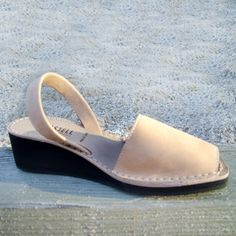 Wedge Leather Nubuck Sand now featured on Fab.