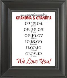 Personalized GRANDPARENTS Gift by SpareTimeDesignsShop
