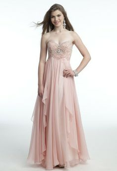 Strapless Long Prom Dress with Beaded Empire from Camille La Vie and Group USA