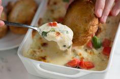 Baked Cheese Dip with Tomato and Basil Recipe from www.inspiredtaste.net #recipe #appetizer