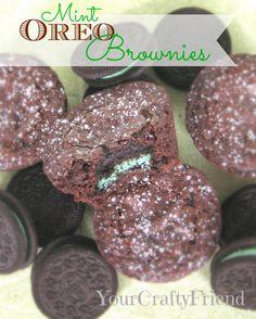 Mint Oreo Brownies on MyRecipeMagic.com #brownies #mintoreo