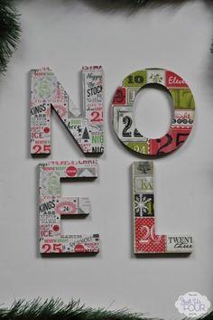 Easy Mod Podge Christmas Decoration