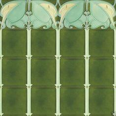 Art Nouveau - 1900 - Ceramic Tile