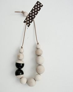 wooden beads necklace.