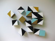 Geo blocks by Ambrosia Girl. Interesting gift idea. I know my kids would love them.