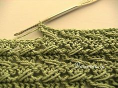 crochet relieve stitch